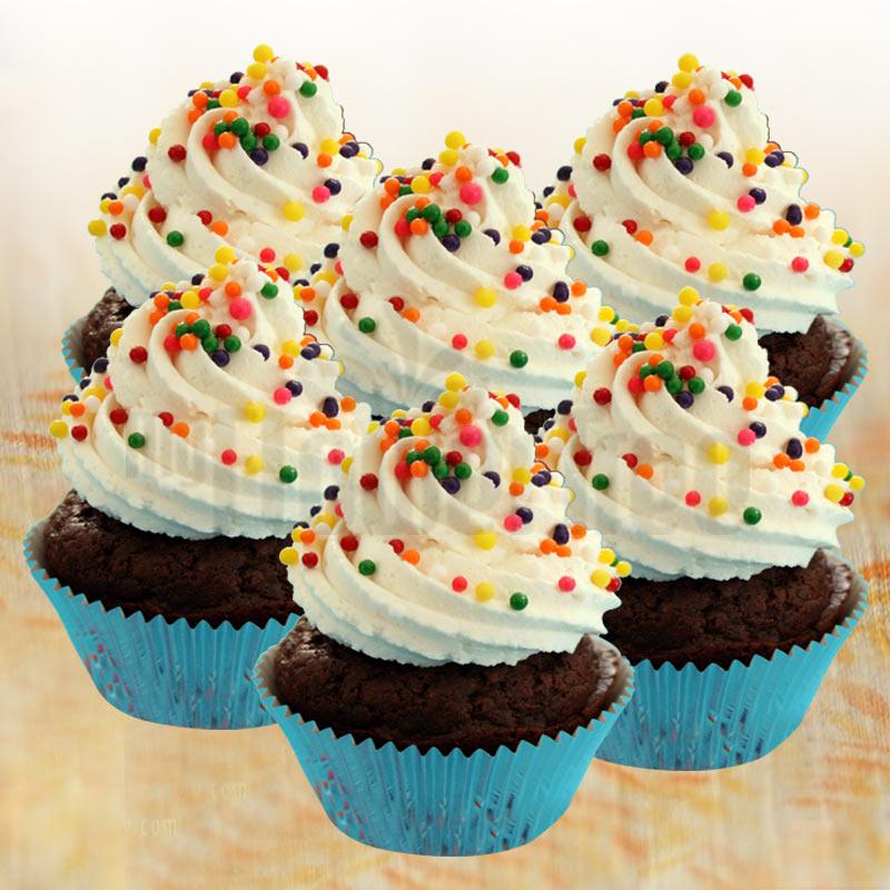 Chocolate Rainbow Cupcakes