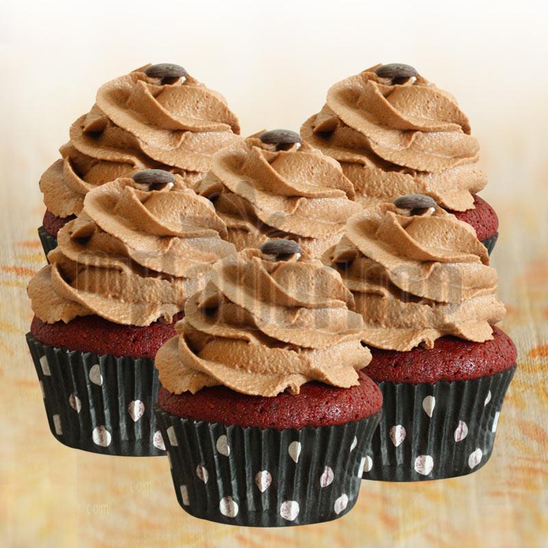 Red Velvet Chocochip Cupcakes