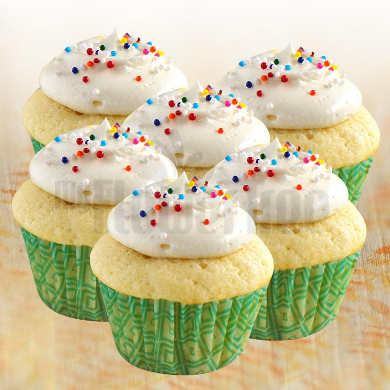 Vanilla Rainbow Cupcakes