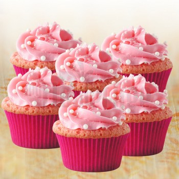 Set of 4 Strawberry Cupcakes