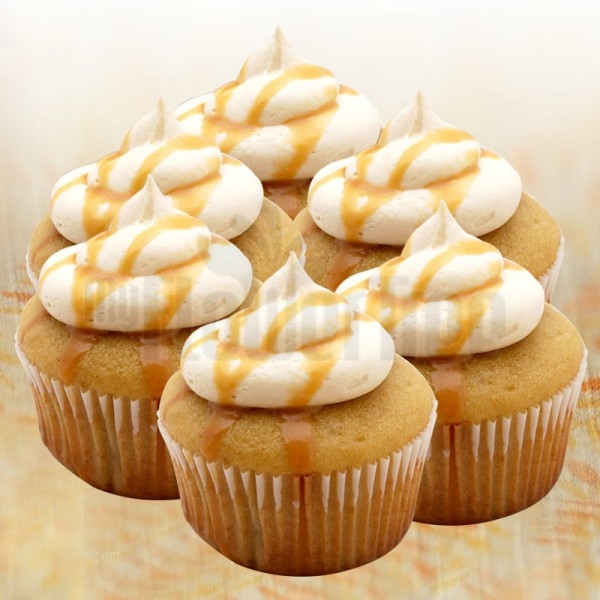 Set of 4 Caramel Coffee Cupcakes