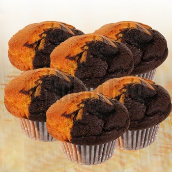 Set of 6 Chocolate Plain Muffins