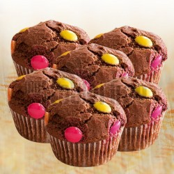 Chocolate Gems Muffins