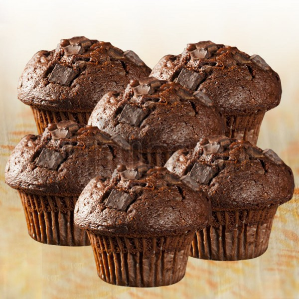 Set of 6 Chocolate Chocochip Muffins