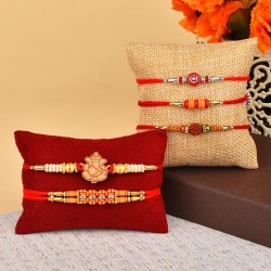 Set of 5 Conventional Rakhis