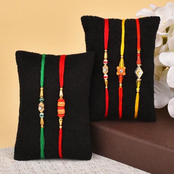 Elegant Rakhi Threads Combo