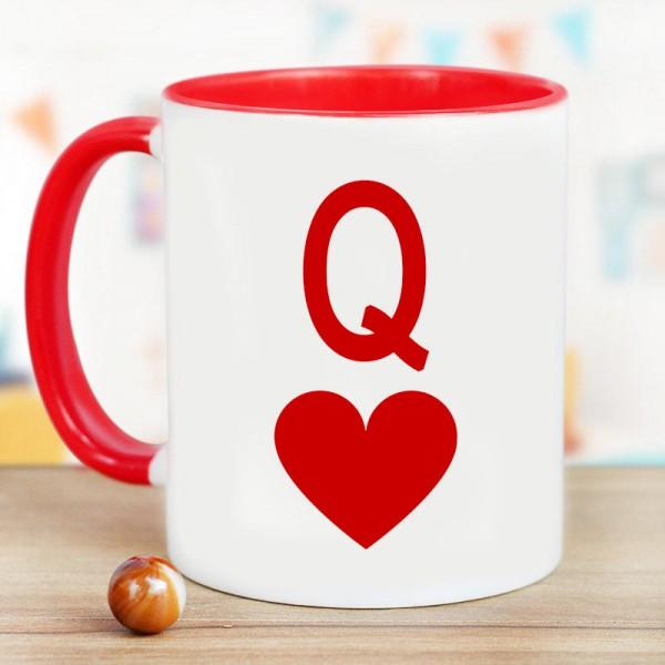 Q Printed Coffee Mug