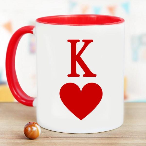 K Alphabet Printed Mug