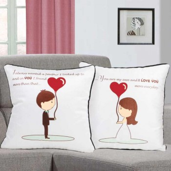 Printed Cushions for Couple