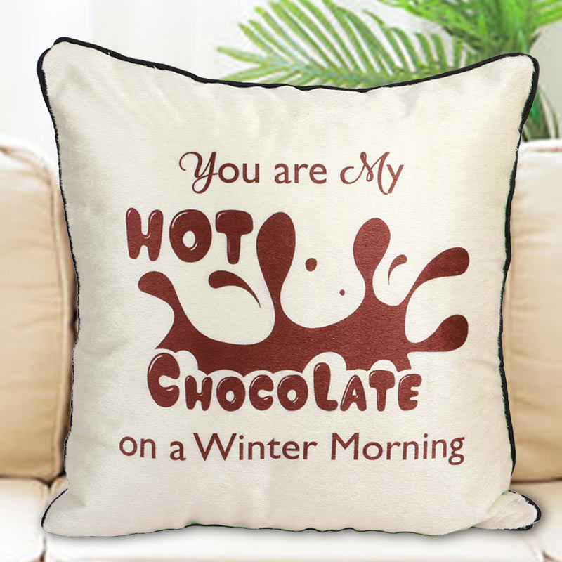 Hot Chocolate Cushion