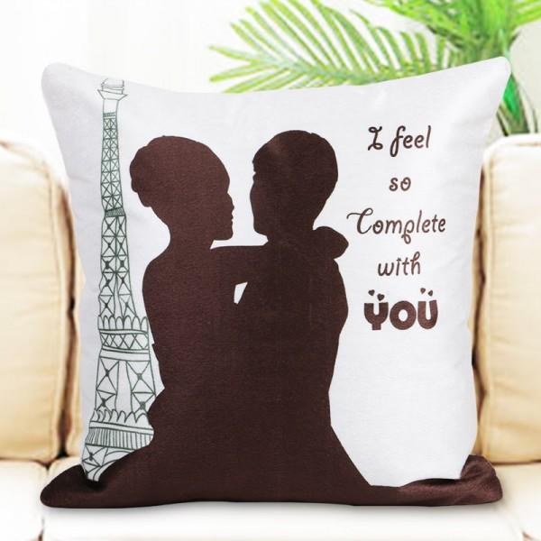 Love Theme Printed Cushion