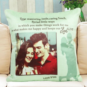 One Personalised Photo Cushion