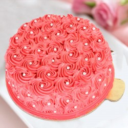 Designer Red Rose Cake
