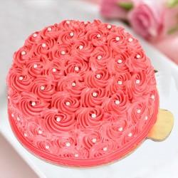 Designer Red Rose Cake