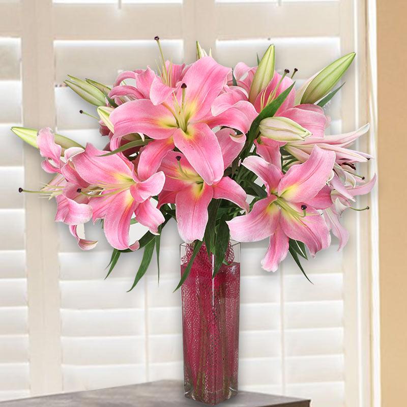 Flower Vase Online India Send Vases With Flowers Online Buy