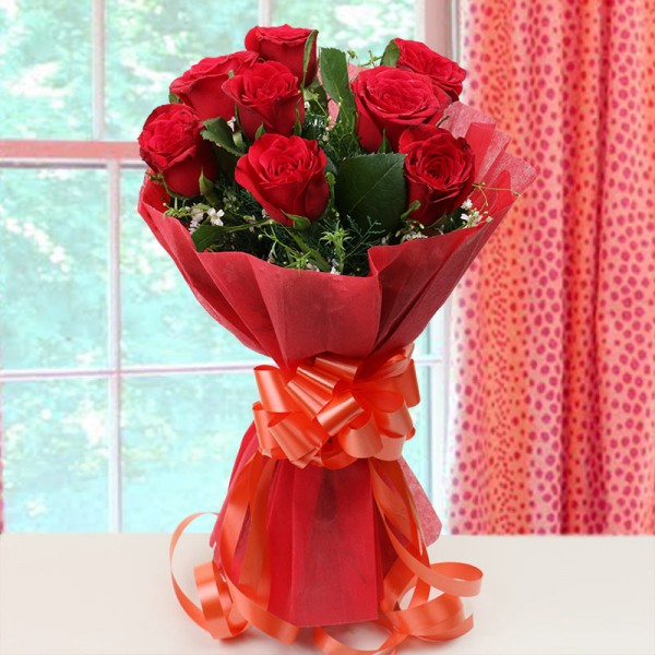 8 Red Roses Bouquet Online