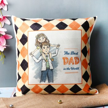 One Printed Cushion For Dad