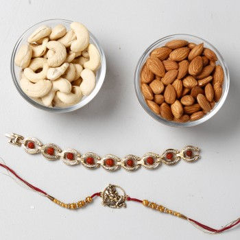 Shining Rakhis And Dry Fruits Special Combo