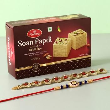 Soan Papdi With Set Of 2 Rakhis