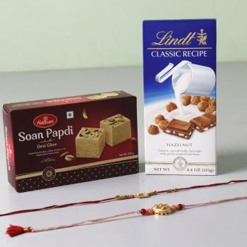 Yummy Chocolate And Designer Rakhis Combo