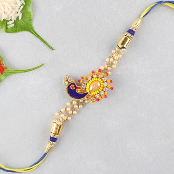 Crystal Peacock Rakhi