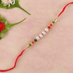 Colourful And Lively Beads Rakhi