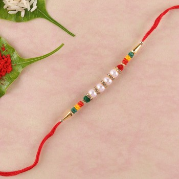 Colourful And Lively Beads Rakhi