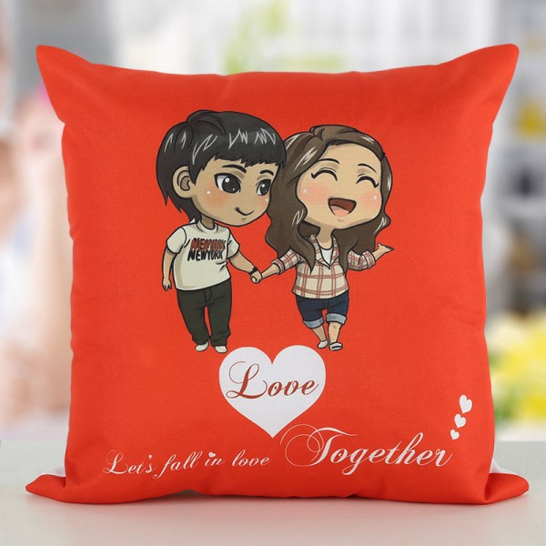 Printed Cushion for Couple