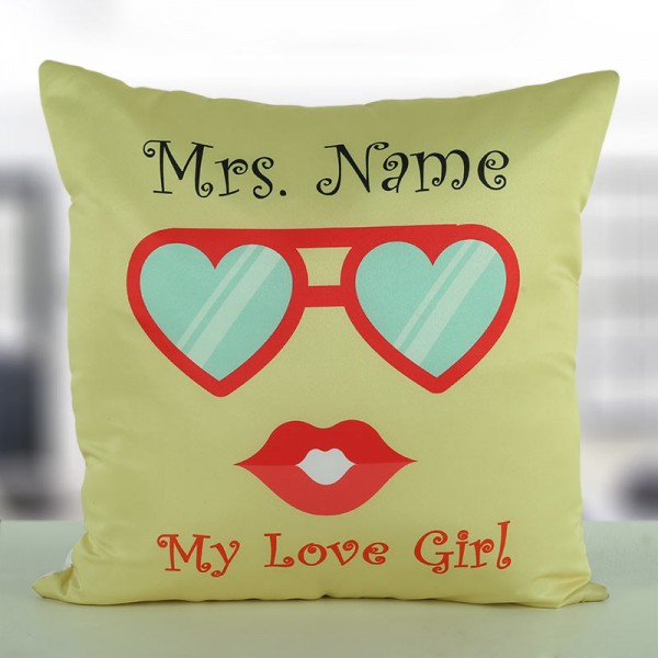 Personalised Name Cushion for Wife