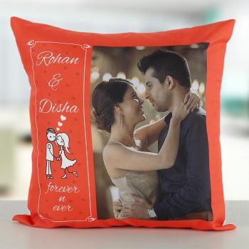 Personalised Photo Name Printed Cushion