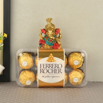 Metal Ganesha with Ferrero Rocher Chocolate 16 pcs