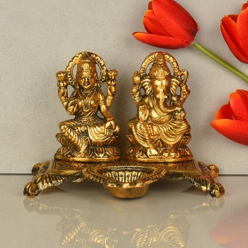 Metal Laxmi Ganesha Set