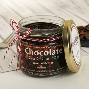 Rich Chocolate Cake in a Jar