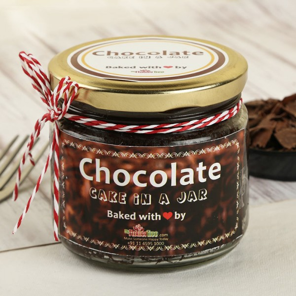 Rich Chocolate Cake in a Jar. Normal view!