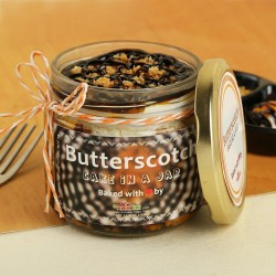 Butterscotch Cake in a Jar