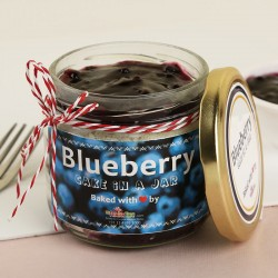 Blueberry Cake in a Jar