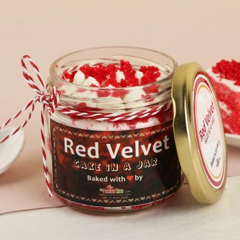 One Red Velvet Jar Cake