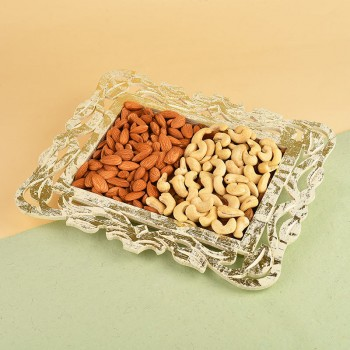 Dryfruits in a Designer Plate