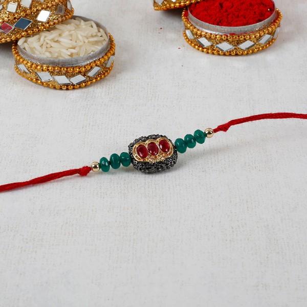 Dashing Red Stone Rakhi