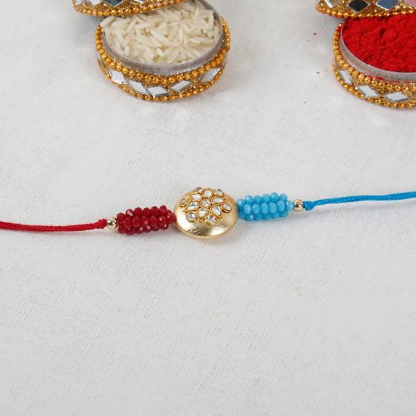 Red And Blue Designer Rakhi