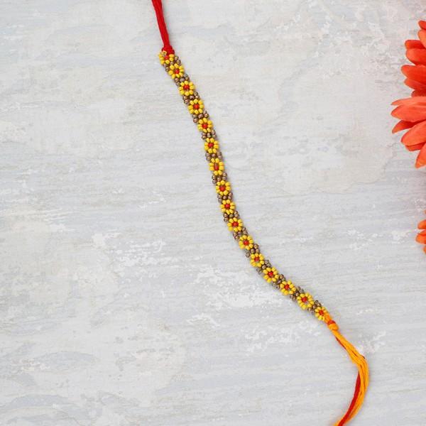 Beaded Floral Rakhi