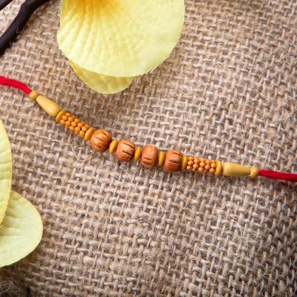 Simple Brown Beads Rakhi