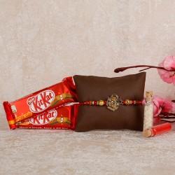 KitKat And Designer Rakhi Combo