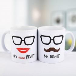 Mr N Mrs Right Couple Mug