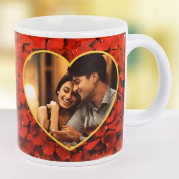Personalised Red Heart Mug | Buy Valentine Day Gifts Online