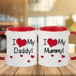 Mummy Daddy Mugs Combo