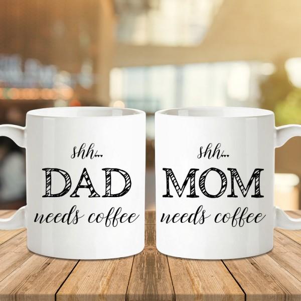 Printed Coffee Mug Combo For Parents