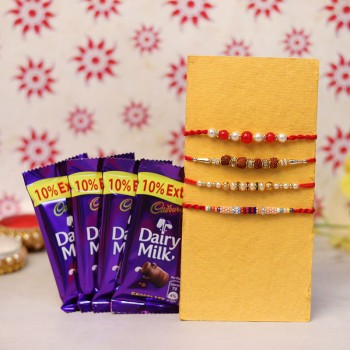 rakhi with chocolate online