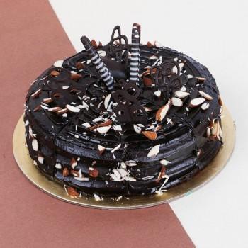 Half Kg Almond Chocolate Truffle Cake