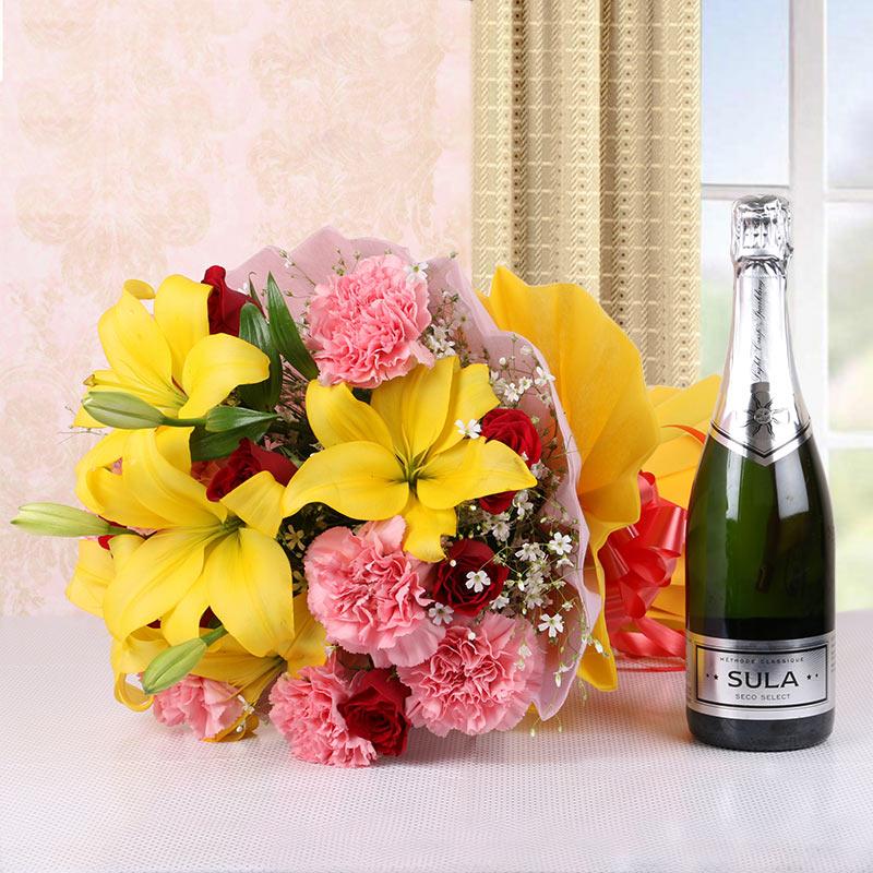 Flowers meet Wine